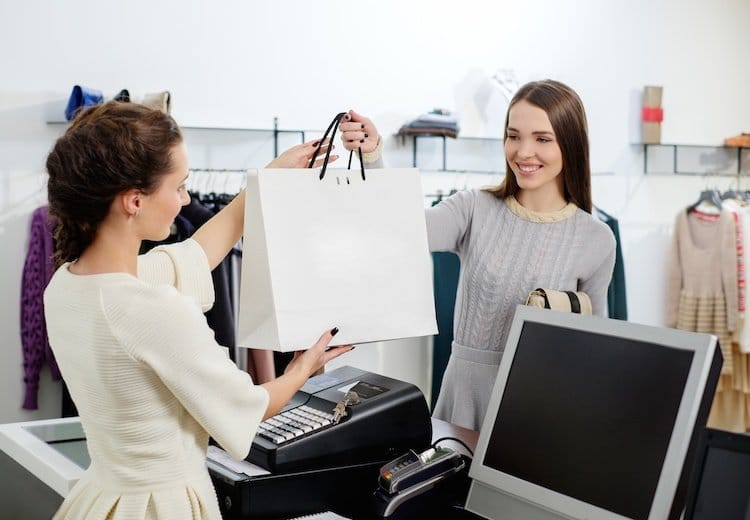 Image of Retail Associate and Customer Representing Automating Cashflow Empowering Retail