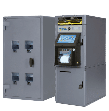 Image of Tidel Series 4e Smart Safe with Rolled Coin Dispenser