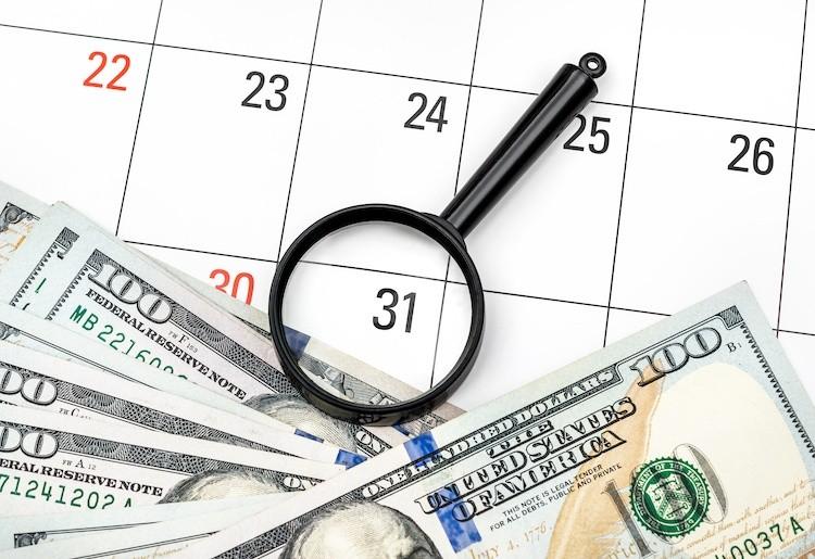 Image of Cash, Calendar, Magnifying Glass