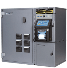 Tidel Series 4e with Bulk Coin and Note Dispenser
