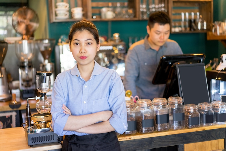 Coffee Shop Employees Representing increase federal minimum wage